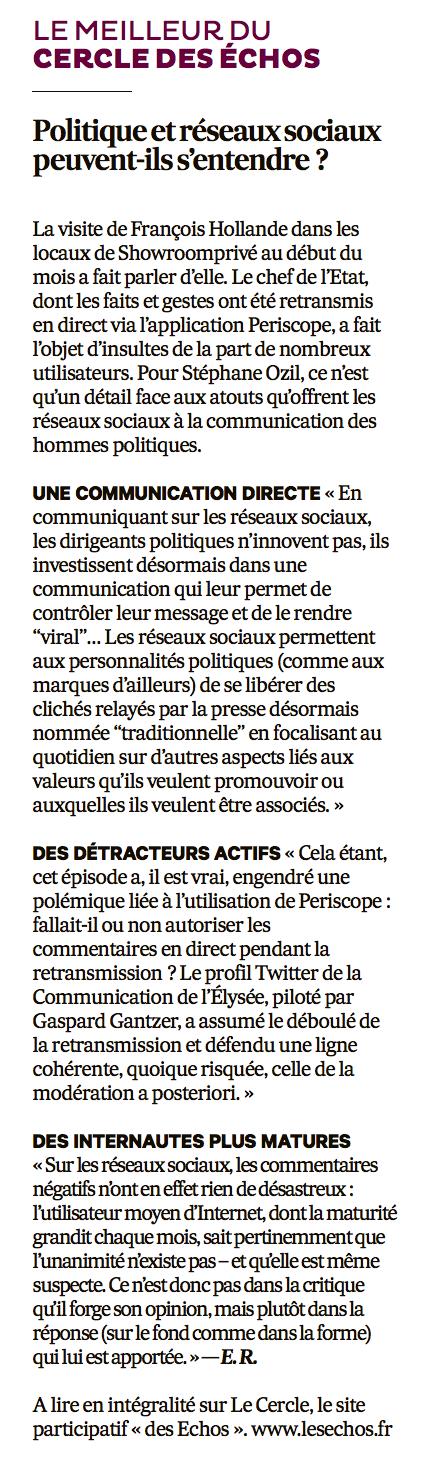 20160310 Politique réseaux sociaux Les Echos